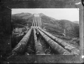 Mangahao hydro-electric power station showing the pipe line ATLIB 305706.png