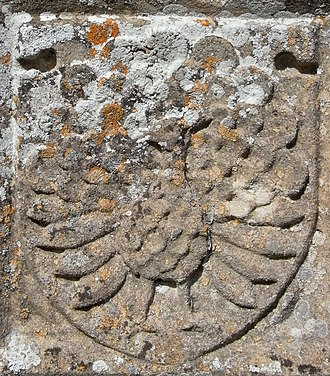John Bourchier, 2nd Earl of Bath - Image: Manners Peacock Tawstock Church Devon
