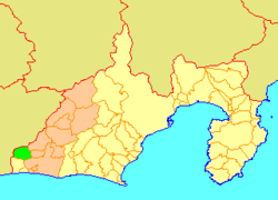 Location of Mikkabi in Shizuoka Prefecture
