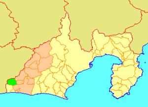 Mikkabi, Shizuoka - Image: Map.Mikkabi.Shizuok