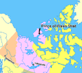 Map indicating Prince of Wales Strait, Northwest Territories, Canada.png