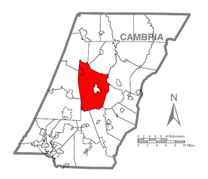 Cambria Township, Cambria County, Pennsylvania - Image: Map of Cambria Township, Cambria County, Pennsylvania Highlighted
