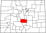 Map of Colorado highlighting Fremont County.svg