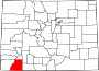 Map of Colorado highlighting La Plata County.svg