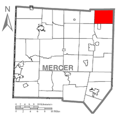 Map of French Creek Township, Mercer County, Pennsylvania Highlighted.png