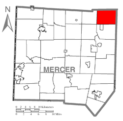 Location of French Creek Township in Mercer County