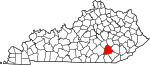 State map highlighting Laurel County
