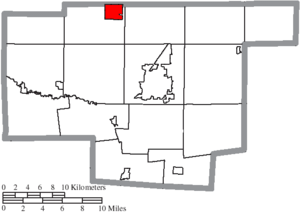 Morral, Ohio - Image: Map of Marion County Ohio Highlighting Morral Village