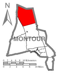 Map of Montour County, Pennsylvania Highlighting Anthony Township.PNG