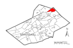 Map of Schuylkill County, Pennsylvania Highlighting Kline Township.PNG