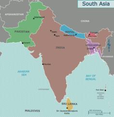 Politische Karte von Südasien