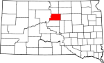 State map highlighting Potter County