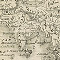 Map of Tibet (Thibet) and India (Hindoostan) in 1840 from 10 of '(A universal Gazetteer; or geographical dictionary of the World. Founded on the works of Brookes and Walker, etc.)' (11017880235) (cropped).jpg