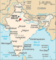 Map of india position of Agra highlighted.png