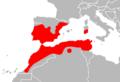 Mapa Hemorrhois hippocrepis.png