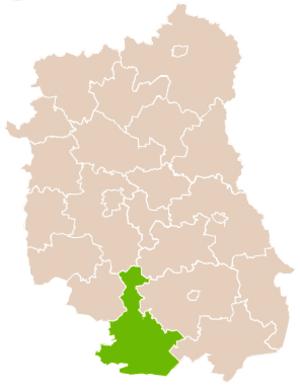 Biłgoraj County - Image: Mapa Pow Biłgorajski