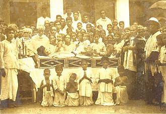 Funeral - Funeral of Indian Syro-Malabar Eastern Catholic Venerable Varghese Payyappilly Palakkappilly on 6 October 1929.
