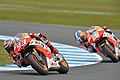 Marc Márquez and Dani Pedrosa 2013 Phillip Island 10.jpeg