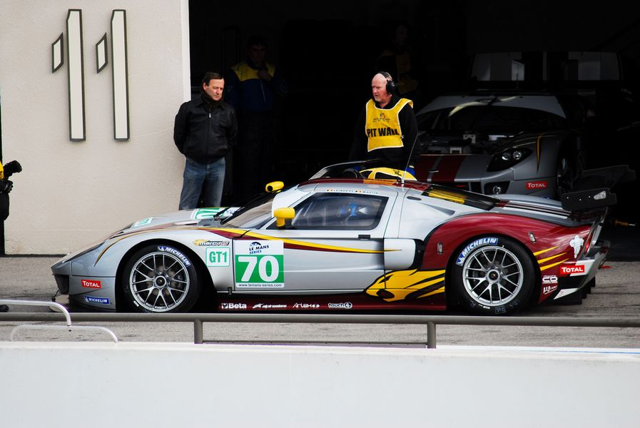 Ford GT #70 of the Marc VDS Racing Team driven by Bas Leinders, Maxime Martin and Eric De Donker