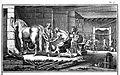 Marechal Ferrant et Operant (Farrier shoeing a horse) Wellcome L0019357.jpg