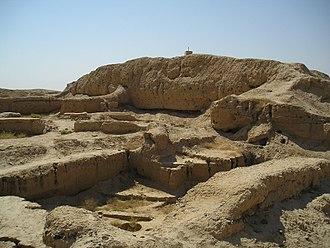 Mari, Syria - Ziggurat at Mari