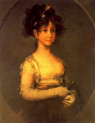 María Isabella of Spain - Infanta Maria Isabel. Portrait by Francisco Goya.
