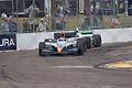 Mario Moraes leads Tony Kanaan through Turn10 Morning Practice SPGP 28March2010 (14697143204).jpg