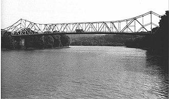 Albert Gallatin Memorial Bridge - Side of the bridge