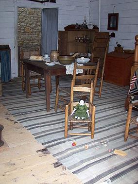 Mark Twain Birthplace Cabin - interior.JPG