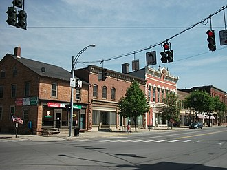 Market Street Historic District (Potsdam, New York) - Image: Market Street Historic District Potsdam NY 1 May 11