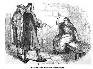 Martha Corey - Drawing of Martha Corey with her persecutors.