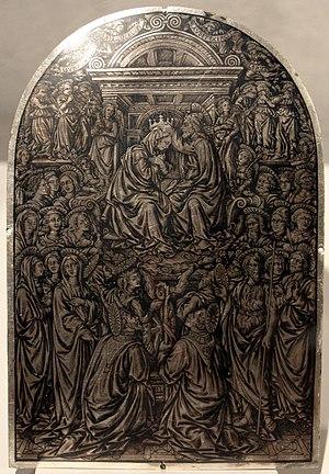 Maso Finiguerra - Coronation of the Virgin, niello, 1452, Bargello