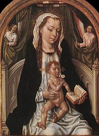 Master Of The Legend Of St. Ursula - Virgin and Child- WGA14579 (cropped).jpg