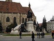 Matia Corvin Statue nov 2010