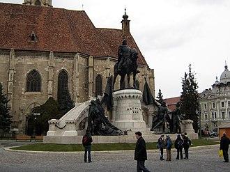 János Fadrusz - Image: Matia Corvin Statue nov 2010