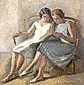 Maurice Asselin - Deux filles lisent.jpg