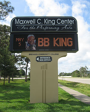 King Center for the Performing Arts - Image: Maxwell C. King Center for the Performing Arts sign 001