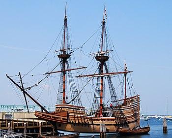 Mayflower II, a replica of the Mayflower, in P...
