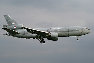 McDonnell Douglas KC-10 Extender - The second Royal Netherlands Air Force KDC-10 with landing gear down