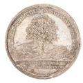 Medalj med bild av en ek samt text - Skoklosters slott - 99362.tif
