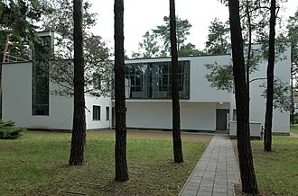 Bauhaus and its Sites in Weimar, Dessau and Bernau - Street view of the Kandinsky / Klee semi-detached houses