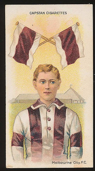 Melbourne City Football Club (VFA) - Melbourne City cigarette card from 1913