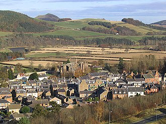 Melrose, Scottish Borders - Image: Melrose Town Centre from Quarry Hill geograph.org.uk 609004