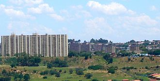 Sophiatown - Sophiatown and the Police Barracks on the Melville Koppies ridge