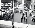Members of American Legion Band, United States Marine Corps, and United States Army marching at intersection of Congress Street and State Street (11071905636).jpg