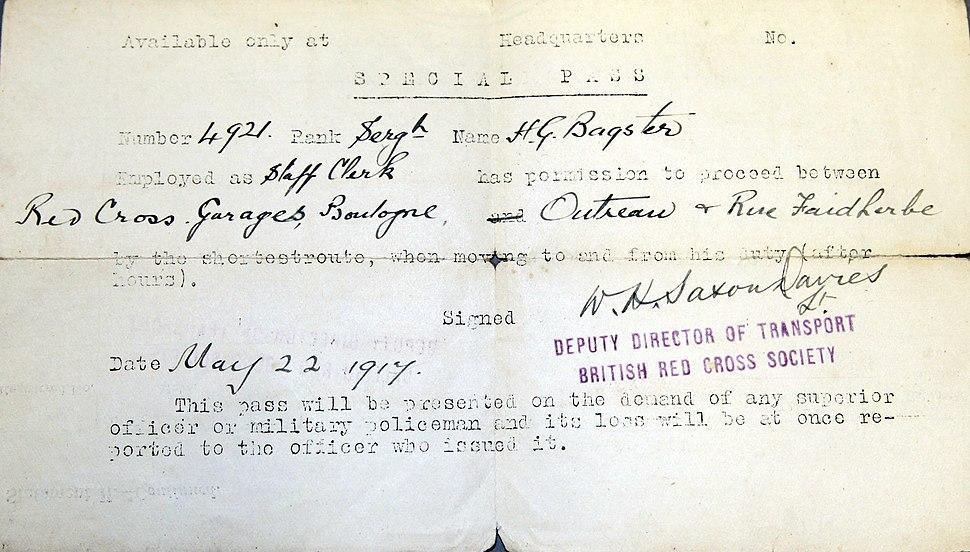 Memorabilia relating to H.G. Bagster, item 2