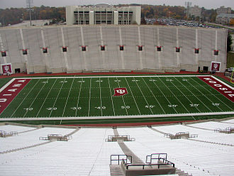 Memorial Stadium (Indiana University) - A view of the stadium from the luxury suites
