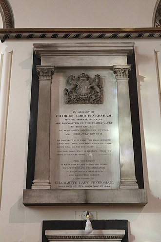 Charles Duncombe, 1st Baron Feversham - Memorial in the Church of All Saints, Helmsley