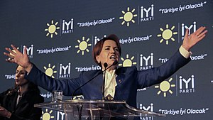 İYİ Party - Meral Akşener giving her first speech as party leader, 25 October 2017
