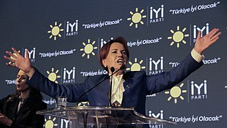 2018 Turkish presidential election - Meral Akşener announcing her presidential ambitions during the establishment of the İyi Party on 25 October 2017
